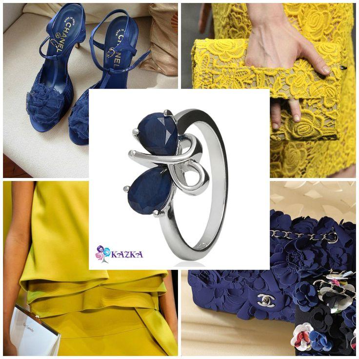 Стильное серебряное кольцо с синим сапфиром. Идеально для повседневных ансамблей.   Купить за 1 370 грн. http://kazka.com.ua/products/ukrasheniya/kolca/zhenskie-kolca/016906810003.html  #kazkajewelry #кольцо #сапфир