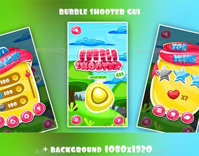 """Check out new work on my @Behance portfolio: """"Bubble Shooter Game Interface"""" http://be.net/gallery/49622649/Bubble-Shooter-Game-Interface"""