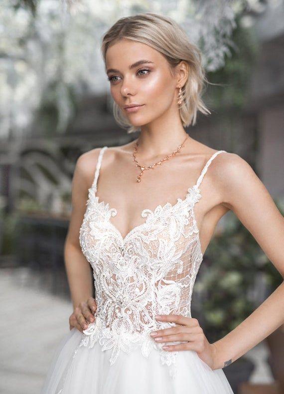 Boho Wedding Dress Open Straps Bohemian Beach Long Train Ivory Etsy In 2020 Short Wedding Dress Wedding Dresses Unique Wedding Gowns Lace,Wedding Dress Display Case