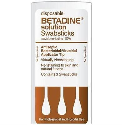 Pill Boxes Pill Cases: Betadine Disposable Solution Swabsticks 50 Packs, [3 Ea Per Pack] -> BUY IT NOW ONLY: $31.53 on eBay!