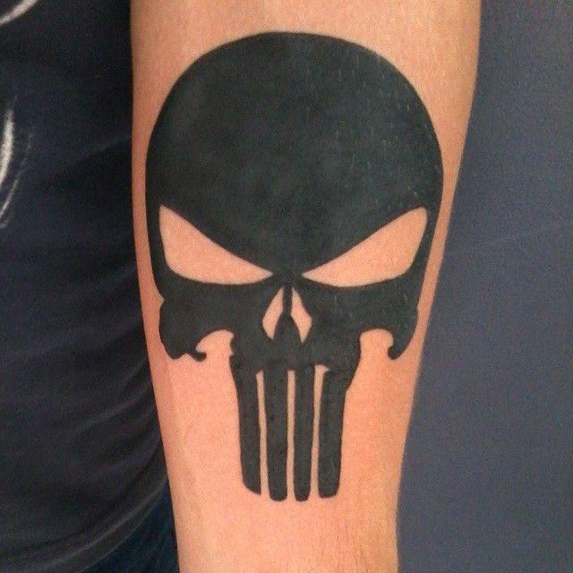 #pahaortattoo #tatuagem #tattoo #skull #skulltattoo #caveira #punisher