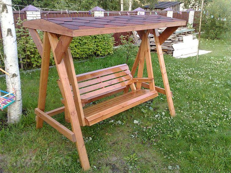 Садовый стол со скамьями из дерева своими руками