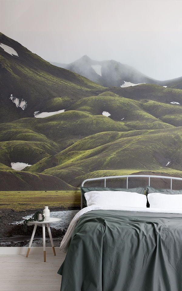 Icelandic Mountains Wallpaper Mural Nature Wallpaper Mountain
