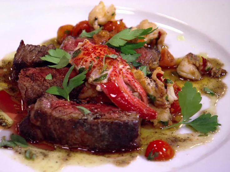 Grilled Rib-eye with Fra Diavolo Lobster Relish Recipe : Bobby Flay : Food Network - FoodNetwork.com