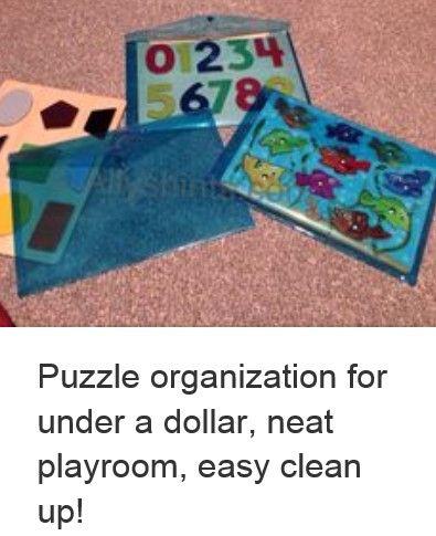 Puzzle Storage! Wonderful idea!