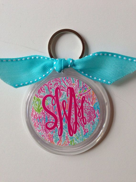 Monogram Key Chain by SouthernIdeology on Etsy, $12.00. Since this already has my initials on it doesn't' that mean its mine