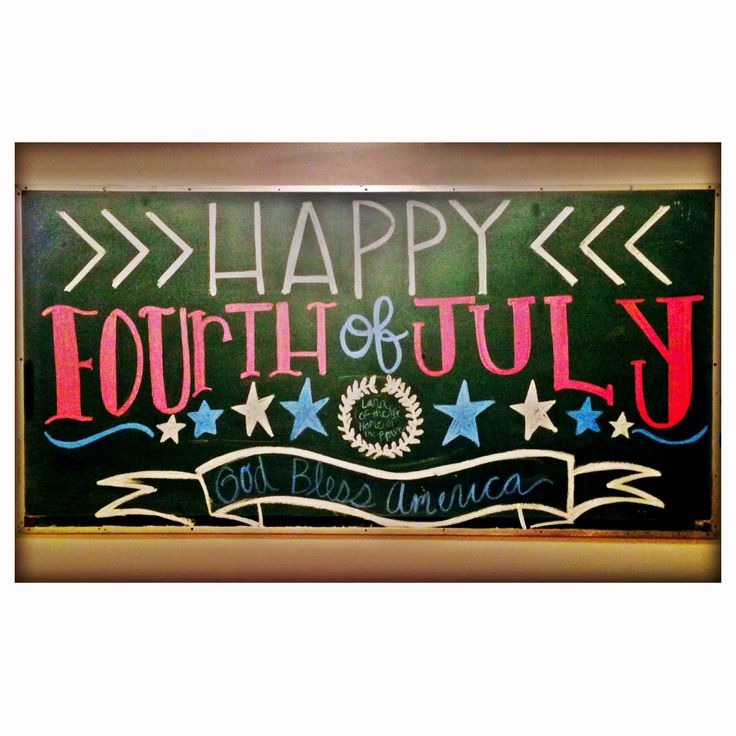 july 4th chalkboard art