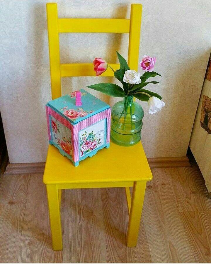 En sevdiğim sandalyem sarı sandalyem😊