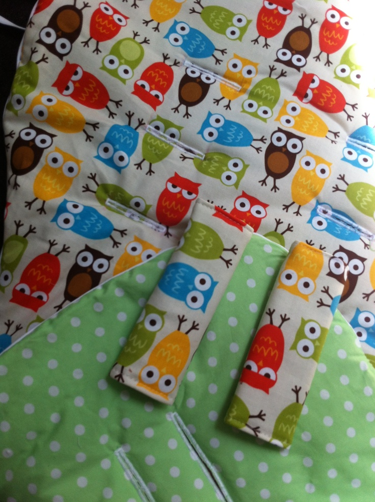 Owl pram liner and strap covers