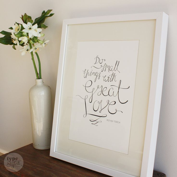 "Limited edition ""Great Love"" print designed exclusively for Inspirationery by Type Styled. 50% of profits from the sale of our stationery is donated to empowering women and girls through education and leadership programs. Available for pre-order from pozi.be/inspirationery Frame sold seperately through Ikea. #inspirationery # stationery #inspirational #inspirationalquotes #quotes #socialenterprise #socialgood #empowering #women #girls #education #charity #christmaspresents #christmas"