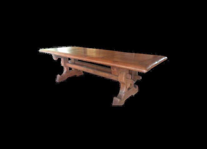 table à manger monastère en chène massif création artisanale dimensions 2M60 X 1M10 X0X80