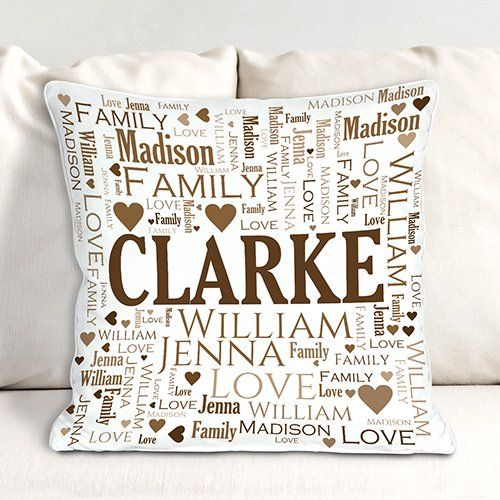 Personalized Family Throw Pillow : 25+ best ideas about Personalized housewarming gifts on Pinterest Housewarming gift ideas ...