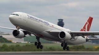 14 Take offs in 7 minutes at Manchester Airport - A380 A330