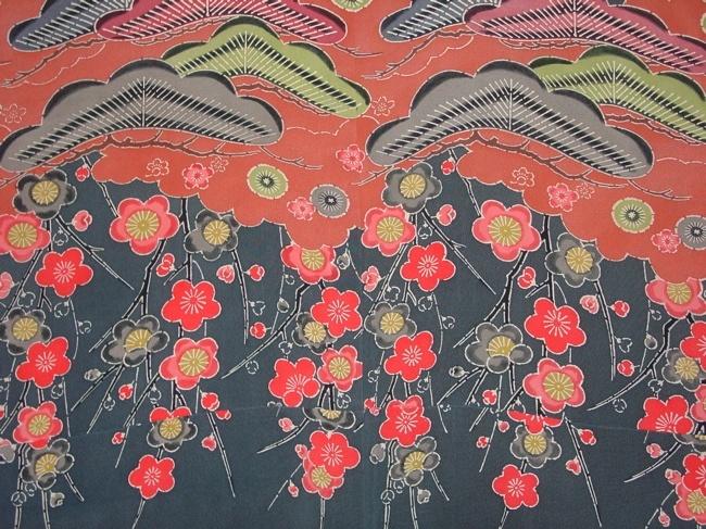 detail from 19th century Bingata kimono
