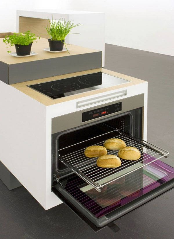 Ovens For Small Kitchens Part - 38: Small Type016 Very Clever Compact Kitchen For Small Apartments