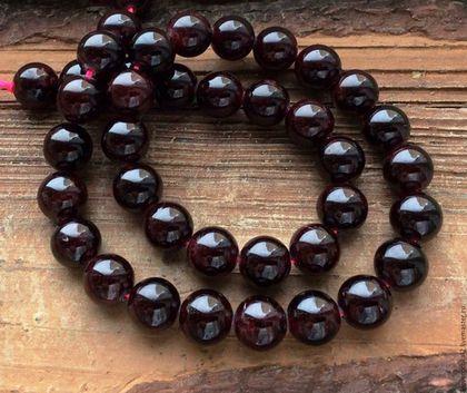 Для украшений ручной работы. Ярмарка Мастеров - ручная работа. Купить Гранат шар 10 мм гладкий бусины камни для украшений. Handmade.