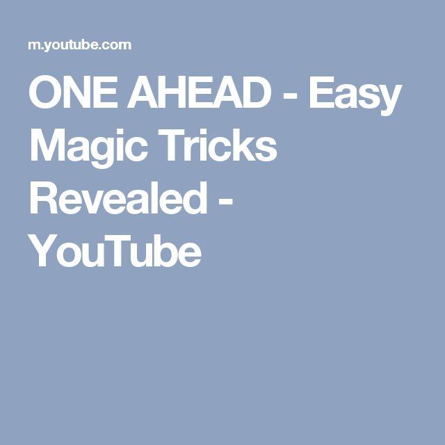 ONE AHEAD - Easy Magic Tricks Revealed - YouTube #easycardmagic #magictricksrevealed #cardmagictricks