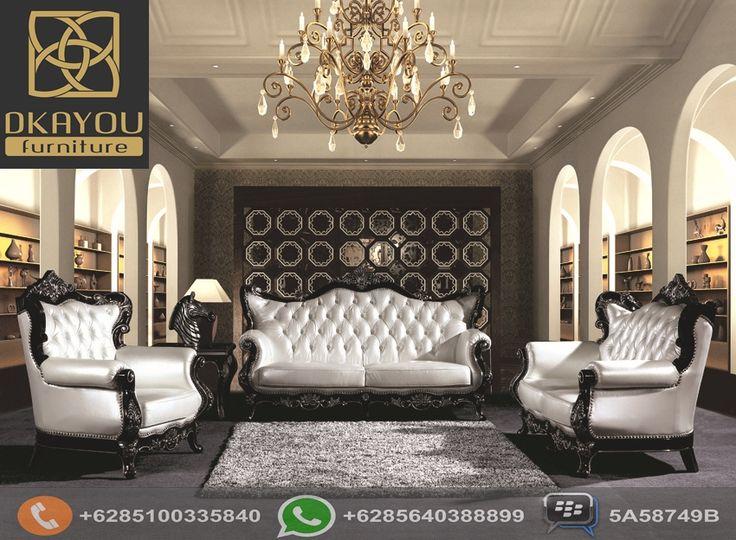Set Sofa Ruang Tamu Barocco Klasik Terbaru Hitam