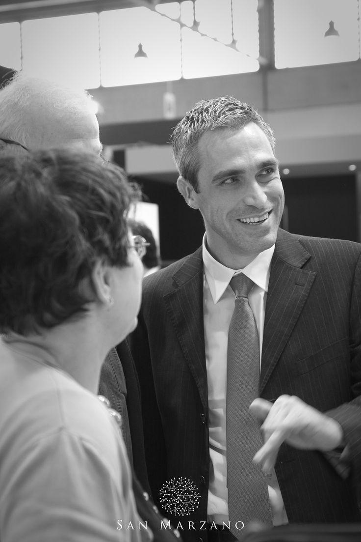 Cantine San Marzano General Manager Mauro Di Maggio at Vinitaly 2015