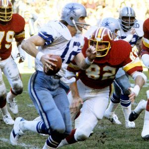 DironTalbert: If there is one word to describe the relationship between Cowboys quarterback Roger Staubach and Redskins defensive tackle DironTalbert, it would be animosity. Description from theboysareback.wordpress.com. I searched for this on bing.com/images