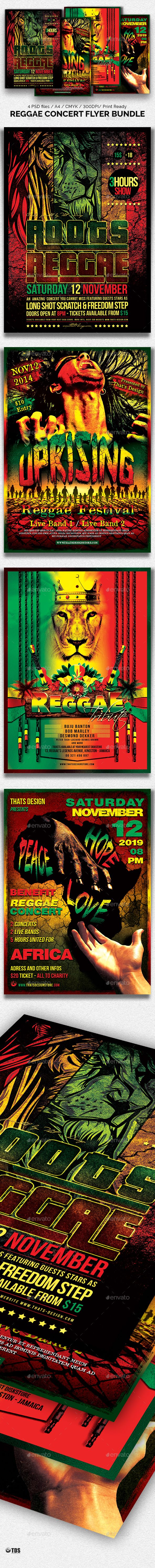 Reggae Concert Flyer Bundle