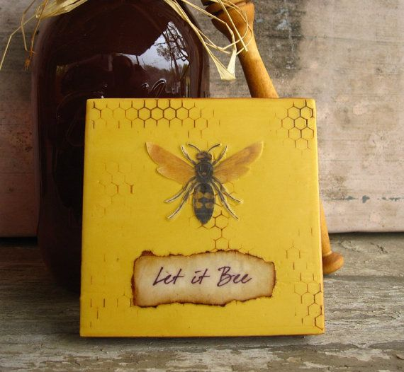 Let It Bee Painting Honey Decoration By KissedByABee 3500