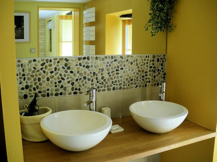 15 best Frise en Galets_Salle de Bain images on Pinterest Bathroom - brico carrelage salle de bain