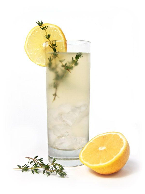 Thyme Lemonade - ¾ oz lemon juice - ¾ oz simple syrup - 1½ oz Snowfox - ice - thyme  Combine ingredients in a shaker with ice. Strain into a collins glass filled with ice. Top off with soda water. Lemon and thyme to garnish.  Tip: Slap thyme before mixing to release more flavor.
