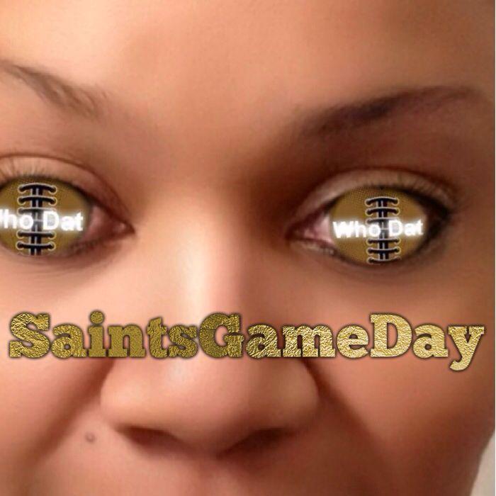 Yes, it's me... Whodatchick Saints vs Eagles #SaintsGameDay