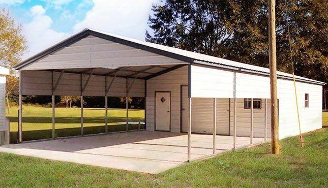 22x56 Vertcal Roof Utility Carport Building Shed Plans Shed Storage Shed Construction