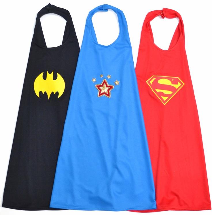 Capas de batman wonderwoman y superman para los invitados - Fiesta de disfraces ideas ...