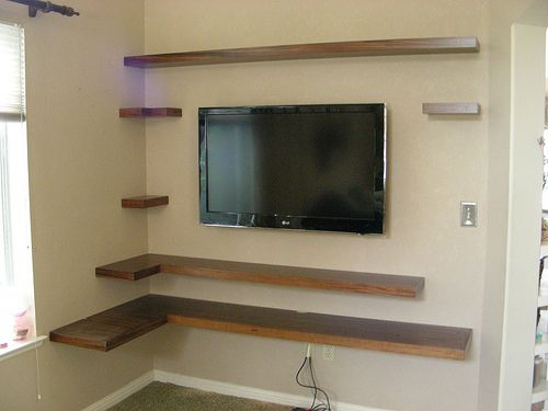 25 best ideas about wall mount entertainment center on for Mountain shelf diy