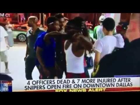 Disturbing Video Shows Blacks People Cheering, Laughing and Taunting Police Moments after 5 Officers Murdered - http://ploud.org/disturbing-video-shows-blacks-people-cheering-laughing-and-taunting-police-moments-after-5-officers-murdered/