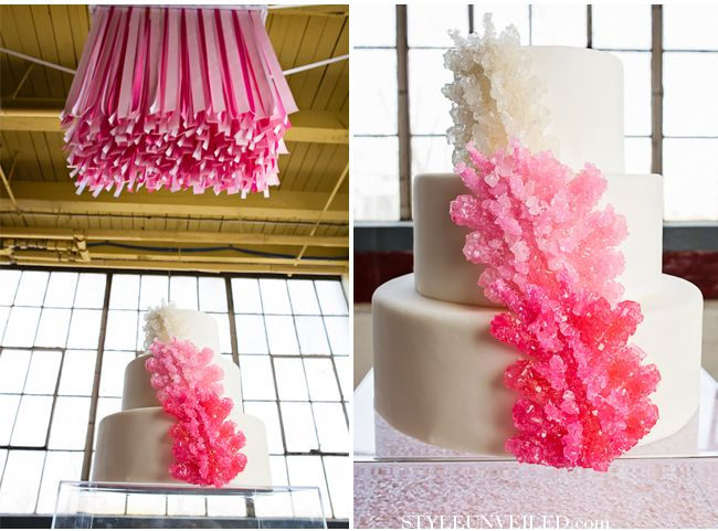 Rock candy cake: Coral Pink Wedding Cakes, Rocks Candy Cakes, Beaches Theme, Love Rocks, Cakes Ombre, Pretty Wedding Cakes, Wedding Ideas Pink, Rock Candy Cakes, Coral Reefs