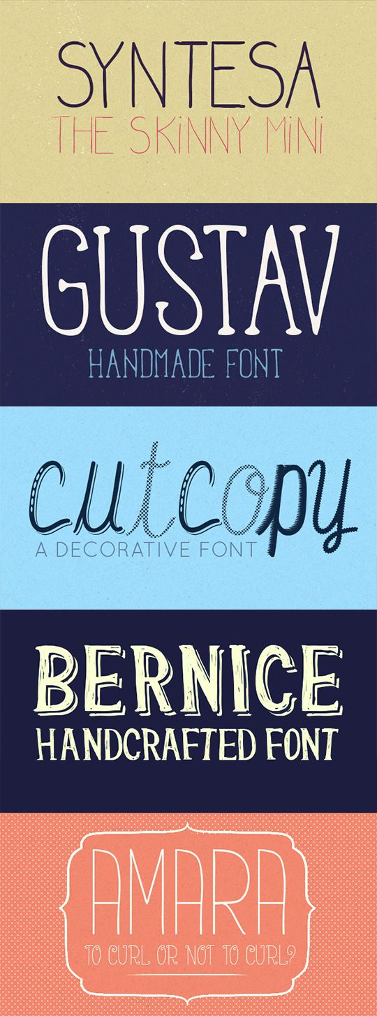 Get 5 Handcrafted Gorgeous Fonts + Vector Files