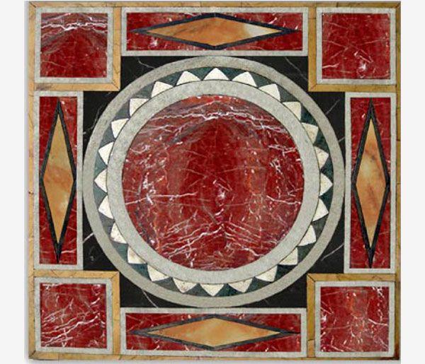 Tavolo intarsiato Occasum art.21 - Le Pietre srl