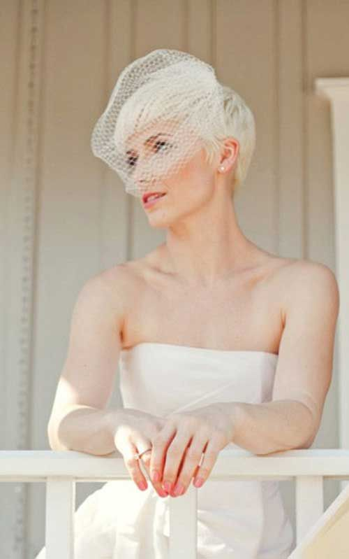 Wedding Pixie Cut complete with bird cage for your birds, Miki!