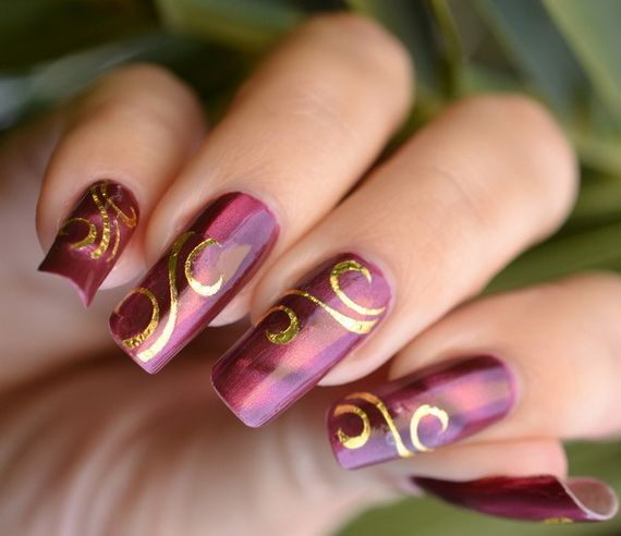 181 best nails images on pinterest long nails purple nail creative hot fashion new year eve nail art prinsesfo Gallery