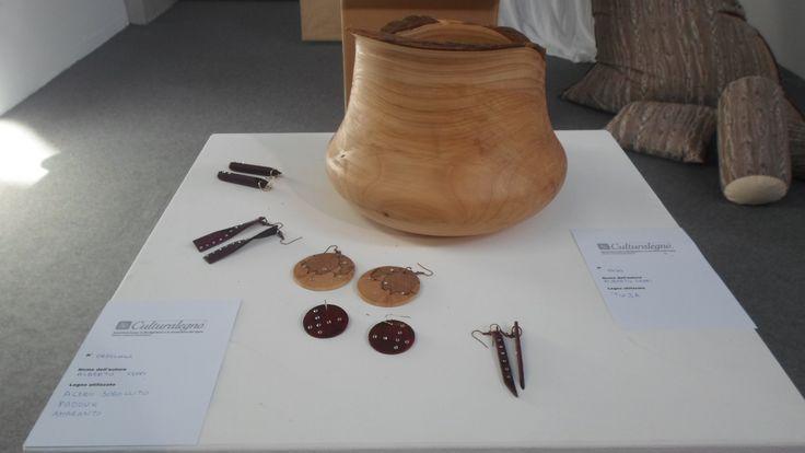 Panoramica di orecchini e vaso in Tuia