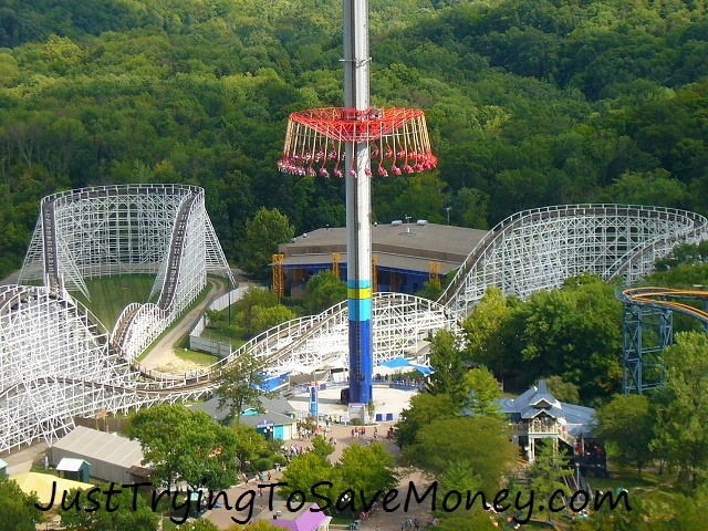 Visit Kings island- I love the Wind Seeker. Fun fame vacation ideas.