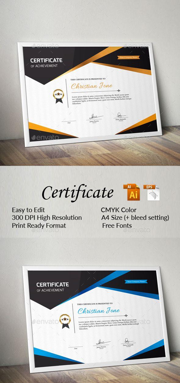 Certificate Template Vector EPS, AI Illustrator                                                                                                                                                                                 More