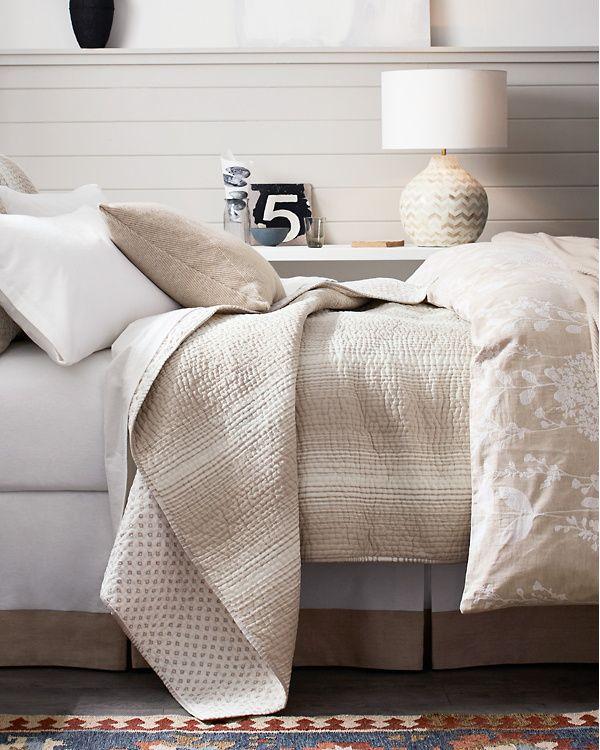 Printed-Stripe Dream Quilt and Sham   Garnet Hill   Dream Home ...