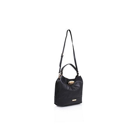 Carvela Black 'Nadia Slouch Lock Bag' handbag with shoulder straps | Debenhams