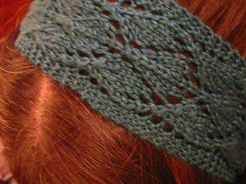 Simple Knitted Headband Pattern | new hairpiece. Or in this case, a lacy knitted headband.