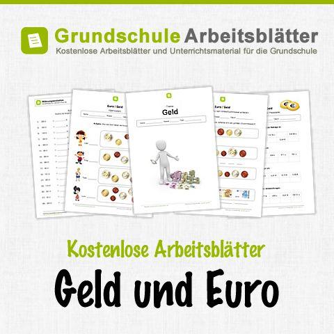 Kostenlose Arbeitsblätter und Unterrichtsmaterial zum Thema Geld und Euro im Mathe-Unterricht in der Grundschule.