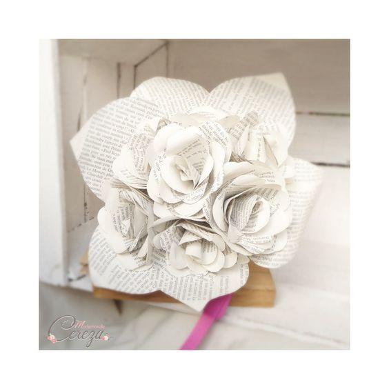 bouquet de mariée original et atypique en fleurs de papier pour les femmes audacieuses - Mademoiselle Cereza bijoux accessoires mariage made in France