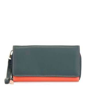 Leather Zip Around Wallet - Leaves and Sky by VIDA VIDA KzMJV
