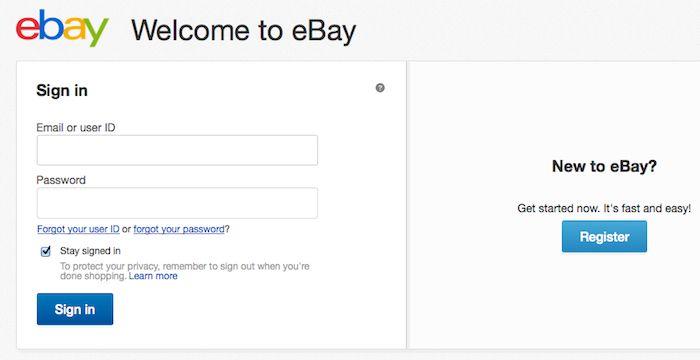 Ebay Logout