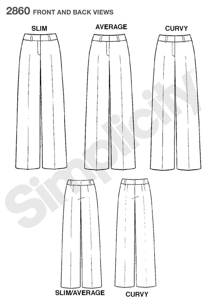 Womens and Petite Pants Sewing Pattern 2860 Simplicity: