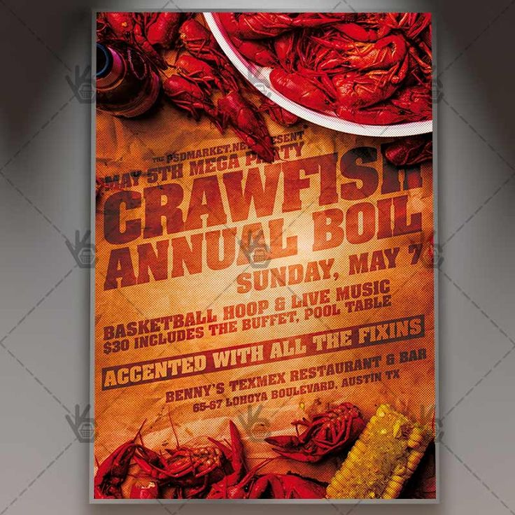 Crawfish Boil Flyer Business PSD Template PSDmarket